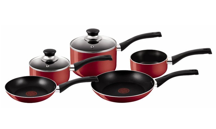 Groupon Goods Global GmbH: Tefal Bistro Five-Piece Pan Set With Free Delivery
