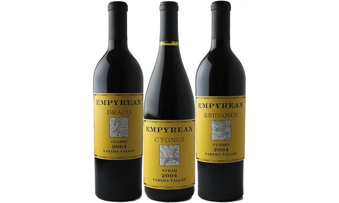 Splash Wines: $59 for Three Bottles of Empyrean Wines from Splash Wines ($150 Value)