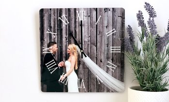 Up to 83% Off Custom Metal Photo Clocks from Picture It Custom