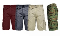 GS-115 Men's Relaxed Fit Belted Cargo Shorts (Sizes 32-52)
