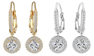 3.00 CTTW Cubic Zirconia Earrings with Swarovski Elements at 3.00 CTTW Cubic Zirconia Earrings with Swarovski Elements, plus 9.0% Cash Back from Ebates.