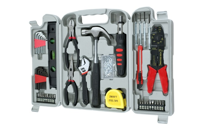 130 Piece Hand Tool Set Groupon Goods