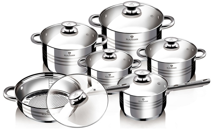 Batterie De Cuisine Induction | Batterie 12 Pieces Induction Groupon