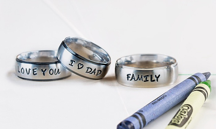 Stamp the Moment: One or Two Hand-Stamped Rings from Stamp the Moment (Up to 60% Off)