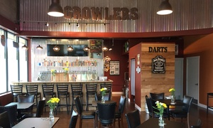 Growler's Public House: Two Sample Tasting Trays for Two and a 64-Ounce Filled Growler to Go ($13 Off)