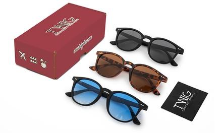 Paquete de 3 pares de gafas de sol modelo Bogart de Twig Concept Milano, con envío gratuito