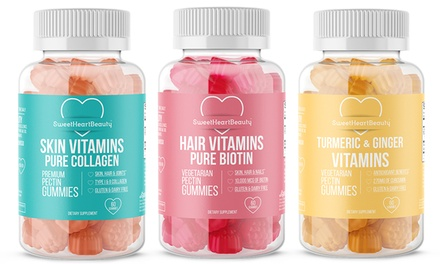 Premium Biotin, Collagen and Tumeric Ginger Gummies (1 or 3-Pack)
