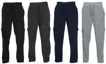 Chams Men's Fleece Cargo Pocket Sweatpants (M-5XL)