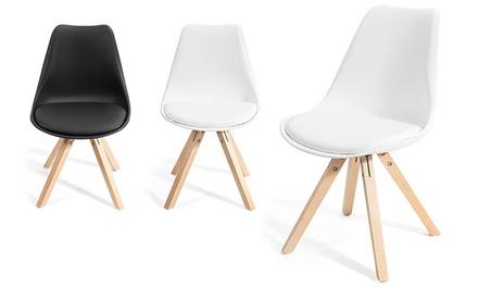 4 Kraft 4er-Set Stühle Fjone in Schwarz oder Weiß  (Munchen)