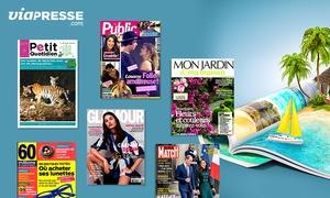 Viapresse: Un bon d'achat d'une valeur de 30 € au prix de 15 € à utiliser sur le site Viapresse (50% de réduction)