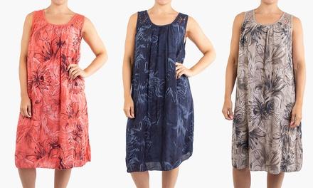 Crochet Trim Flower Summer Dress in Choice of Colour