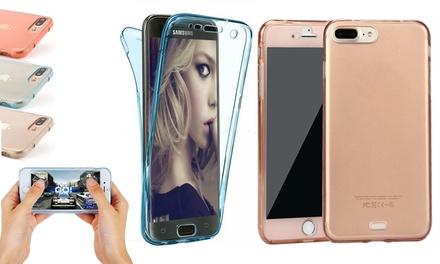 Siliconen hoesje voor de Samsung Galaxy of iPhone in verschillende modellen en kleuren