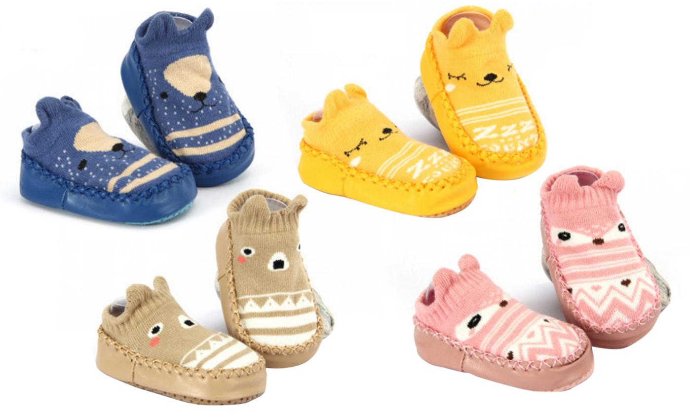 One, Two or Four Pairs of Anti-Skid Shoes for Toddler