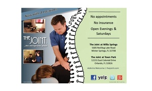The Joint...the chiropractic place: $14 for $29 Worth of Chiropractic Exam at The Joint...the chiropractic place