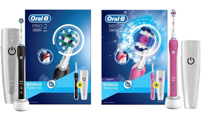 up to 20 off oral b pro 2500 limited editions groupon. Black Bedroom Furniture Sets. Home Design Ideas