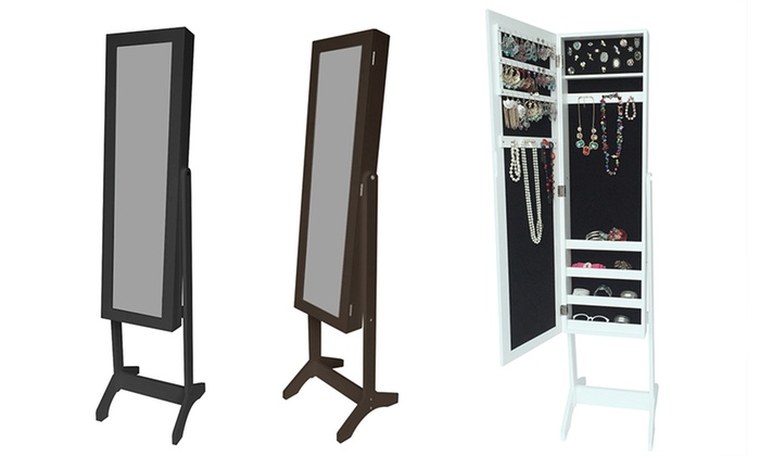 armoire bijoux miroir groupon. Black Bedroom Furniture Sets. Home Design Ideas