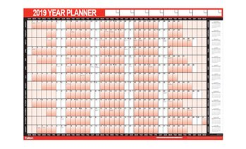 Laminated Yearly Wall Planner