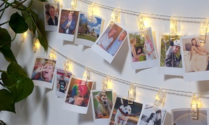 Guirlandes LED porte photos