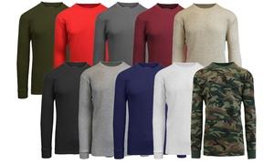Men's Waffle-Knit Thermal Shirt (3-Pack)