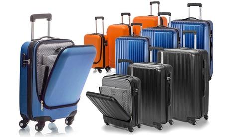cdf4534fa Juego de 3 maletas rígidas, Azul cian brillante por 150 € - GoChollos
