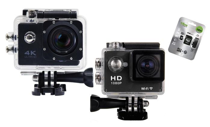 ActionCam HD, Full HD o 4K con accessori inclusi e MicroSD opzionale da 29,99 € (fino a 83% di sconto)