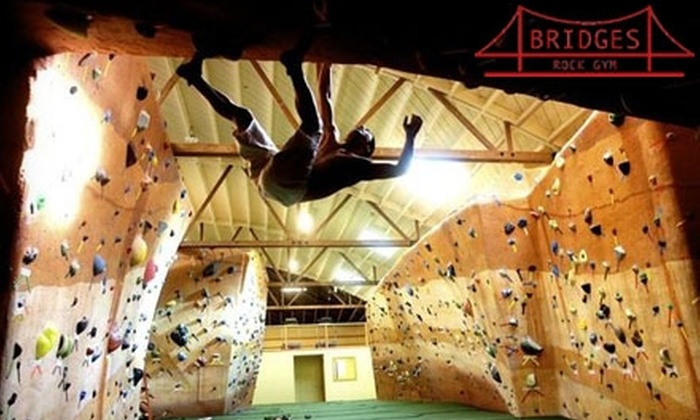 Bridges Rock Gym - Richmond Annex: $45 for a 10-Visit Punch Card ($185 Value) or $20 for a Three-Visit Punch Card (Up to $63 Value) to Bridges Rock Gym in El Cerrito