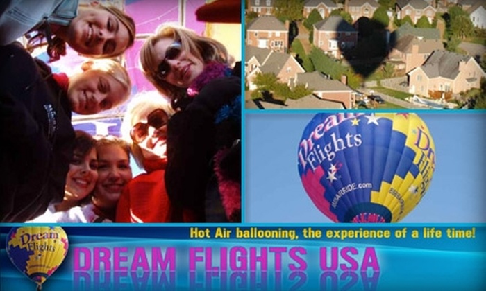 Dream Flights Hot Air Balloons‎ - Indianapolis: $140 Per Person for a Hot-Air-Balloon Ride with Dream Flights (Up to $275 Value)