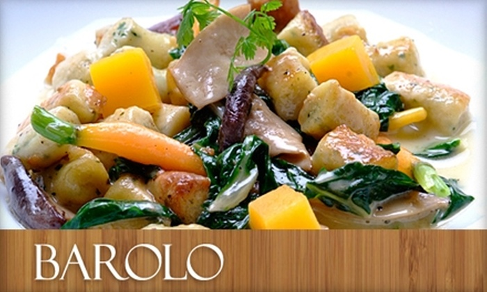 Barolo Restaurant - Pedro Point: $20 for $45 Worth of Italian Cuisine at Barolo Restaurant