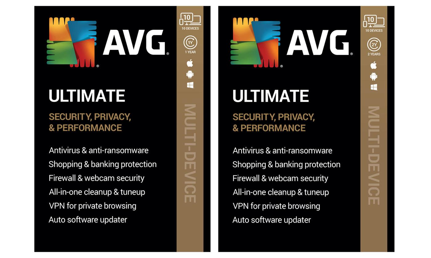AVG Ultimate 2020 with Internet Security, TuneUp and VPN for 10 Devices