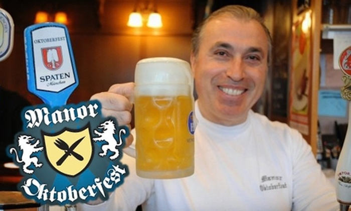 Manor Oktoberfest - Multiple Locations: $15 for $30 Worth of German Cuisine and Beers at Manor Oktoberfest in Glendale