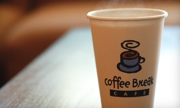 Coffee Break Cafe - Multiple Locations: $15 for $30 Gift Card Good Toward Coffee, Sweet Treats, and Breakfast Goodies at Coffee Break Cafe