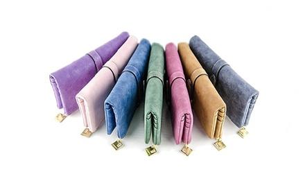 1 ou 2 portefeuilles cuir suédé Kylie, coloris au choix