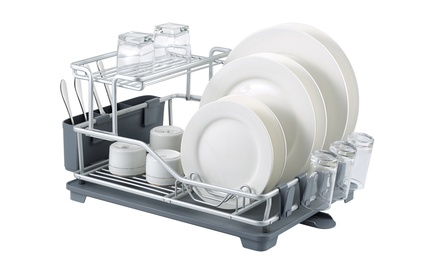 Aluminium Rustproof Dish Drainer with Tray and Holder: OneTier $45 or TwoTier $49