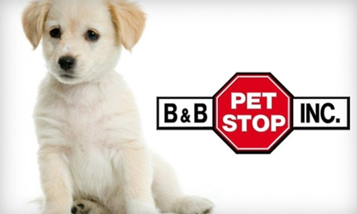 B&B Pet Stop - Greenwich Hills: $15 for $30 Worth of Pet Supplies at B&B Pet Stop