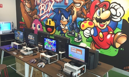 Video Game Museum Entry & Play: 1 $9, 2 $15 or 4 Ppl $29 at The Nostalgia Box Up to $68 Value