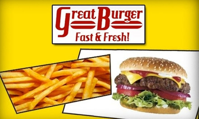 Great Burger - Willow Grove: $4 for $8 Worth of Custom-Built Burgers, Hot Dogs, and Chicken Sandwiches at Great Burger