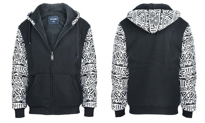 Lee Hanton Men's Tribal Pattern Hoodie