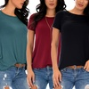 Lyss Loo Cuffed Sleeve Tunic Top (3-Pack)