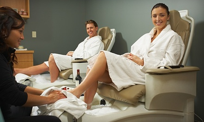 A New Day Spa - Holladay: $125 for a Spa Package with a One-Hour Massage and Express Pedicure for Two at A New Day Spa ($280 Value)
