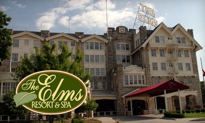 The Elms Resort & Spa - Excelsior Springs: $99 for a One-Night Stay for Two in a Romantic Standard King Suite, a Bottle of Wine, and Breakfast Basket at The Elms Resort & Spa in Excelsior Springs, Missouri ($217 Value)