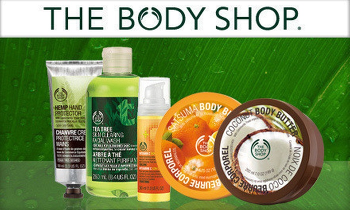 The Body Shop - Spokane / Coeur d'Alene: $10 for $20 Worth of Bath and Body Products at The Body Shop