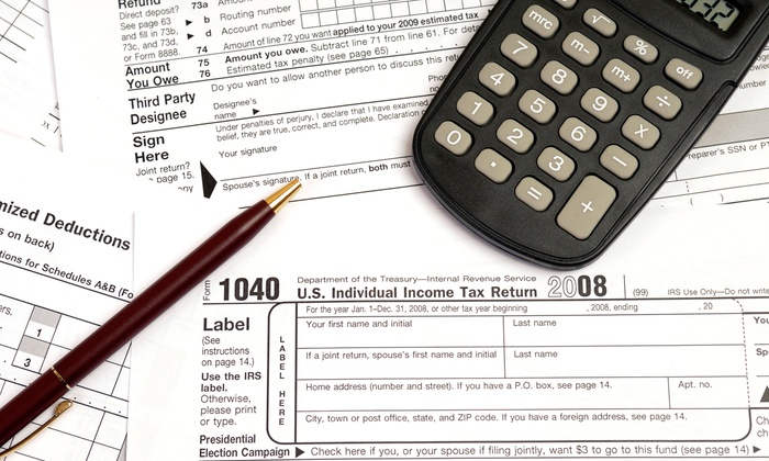 Flash Tax Service - Multiple Locations: $49 for 1040 Tax Preparation Service at Flash Tax Service ($100 Value)
