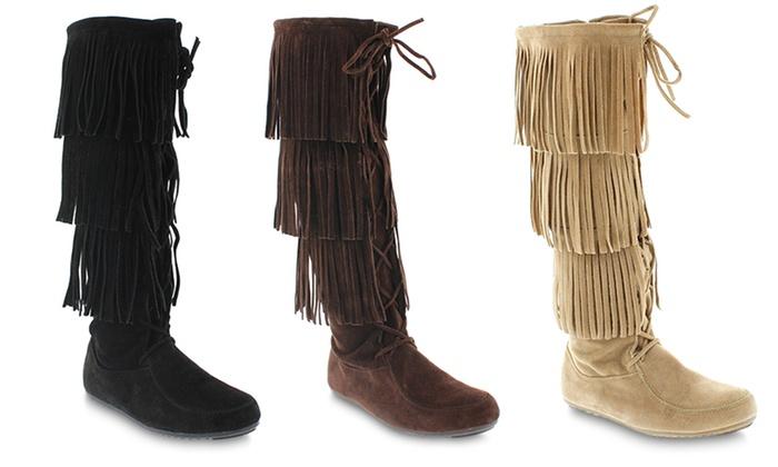 Mata Baylee Women's Fringe Boot