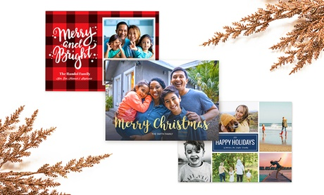 20, 40, 60, 80, 100, 120, 160, or 200 Custom Holiday Cards from Collage.com (Up to 92% Off)
