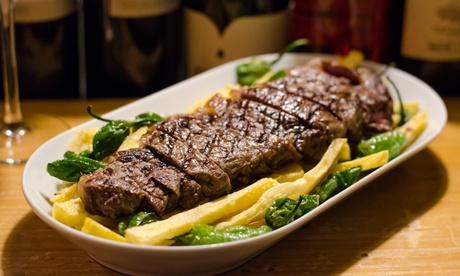 Menú para 2 con aperitivo, entrante, principal, postre o café y botella de vino o bebida desde 24,95 € en La Pasa Blanca