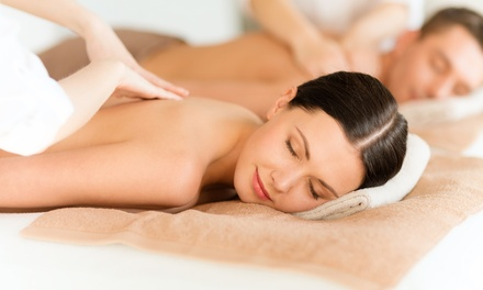 $131.61 for 60-Minute Couples Massage with Optional Sauna Therapy at Massage Green Spa ($219.80 Value)