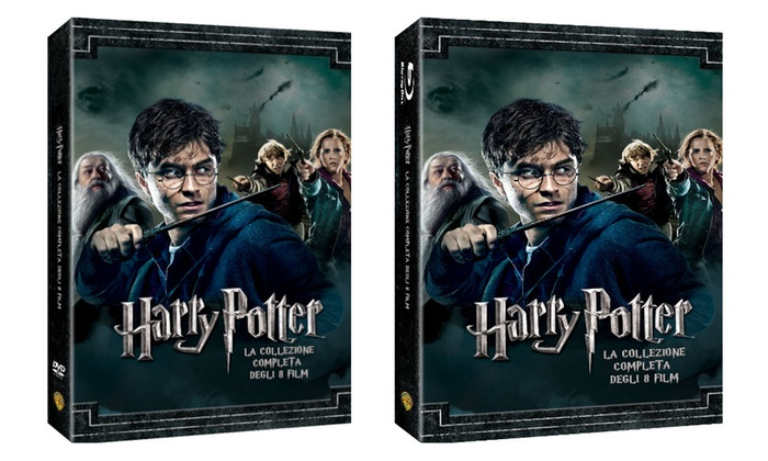 Harry Potter 1-8 in DVD o Blueray