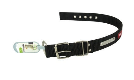 Pet Collar with Blank Stainless Steel ID Plate Including Delivery