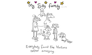 Neil Kerber Cartoon Artist: Silly Doodle of One or Two People or a Family from Neil Kerber Cartoon Artist