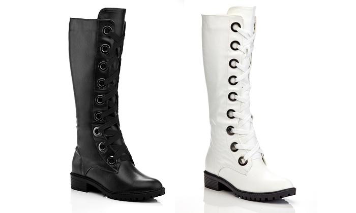 Knee-High Marten Combat Boots